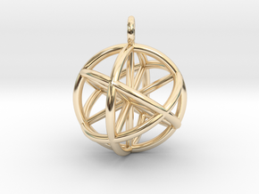 Seed of Life - 6 Axis 30mm.stl in 14K Yellow Gold