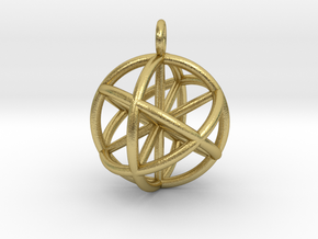 Seed of Life - 6 Axis 30mm.stl in Natural Brass
