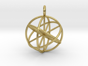 seed of life 30mm thin lines in Natural Brass