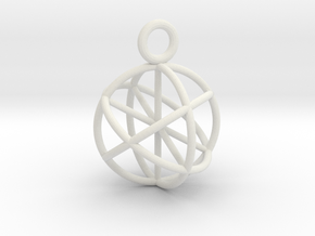 Seed of Life Pendant 20mm  in White Natural Versatile Plastic