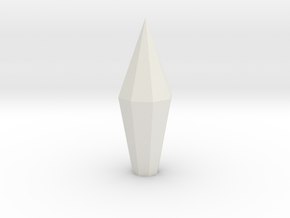 Necron Monolith Crystal Replacement Alternative #2 in White Natural Versatile Plastic