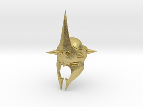 Witchking of Angmar Helmet (LEGO compatible) in Natural Brass