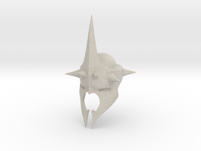 Witchking of Angmar Helmet (LEGO compatible) in Natural Sandstone