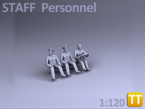 STAFF PERSONNEL - (1:120) TT in Smooth Fine Detail Plastic