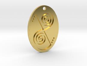 Celtic Swirl Pendant (reinforced) in Polished Brass