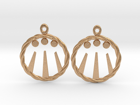Celtic Awen Earrings in Natural Bronze