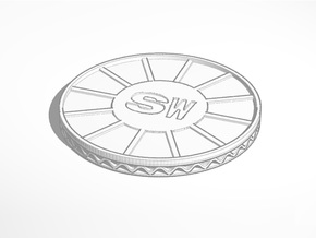 coaster shapeways SW in White Natural Versatile Plastic