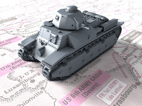 1/56 French Char D2 Medium Tank in Smooth Fine Detail Plastic