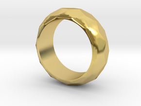 Faceted Men's Band in Polished Brass: 5.5 / 50.25