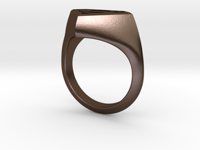 Superman Ring in Polished Bronze Steel: 5.5 / 50.25