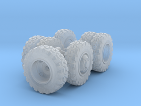 1/87 Scale Transit Off-Road Wheel Set in Smooth Fine Detail Plastic