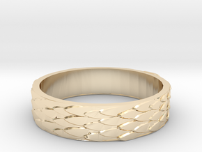 Celtic Dragon Scale Ring (Female version) in 14K Yellow Gold: 7.5 / 55.5