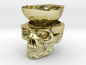 Skull Ring Box - Engagement Ring Box in 18K Yellow Gold