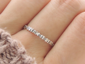 'Dream It Real' Ring (Multiple Sizes) in Polished Silver: 6 / 51.5