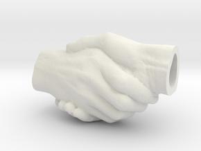 Handfast Handshake Pendant in White Premium Versatile Plastic