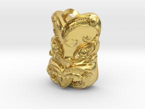 New Zealand Maori pendant  in Polished Brass