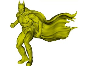 1/72 scale Batman superhero figure in Smoothest Fine Detail Plastic
