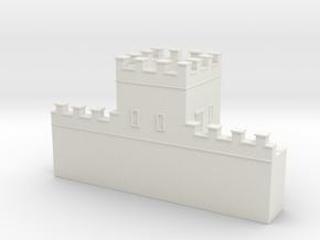 Roman hadrian's wall tower  1/160 in White Natural Versatile Plastic