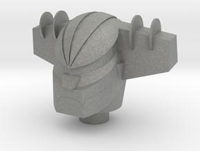 Jeeg Robotman Head in Gray Professional Plastic