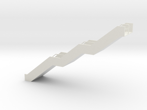 HO Stairs H91 in White Natural Versatile Plastic