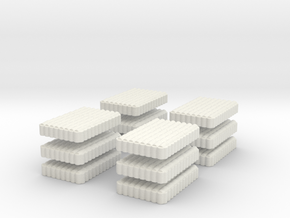 Roman Testudo   8 x 12 1/160 x 12 in White Natural Versatile Plastic