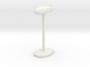 K Class Blimp in White Natural Versatile Plastic