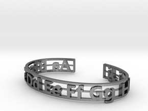 Alphabet Bracelet in Antique Silver: Small