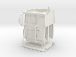1/64 Loader cab- Solid windows, no interior in White Natural Versatile Plastic