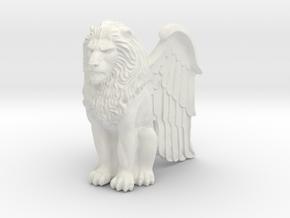 Lion, Winged, 42mm in White Premium Versatile Plastic