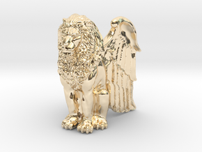 Lion, Winged, 42mm in 14K Yellow Gold