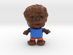 Wolfman Figurine in Matte Full Color Sandstone