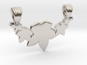 Seven leafs [pendant] in Platinum
