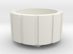 Pain Tats Circle in White Natural Versatile Plastic