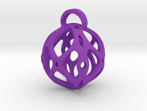 View of spherical games - part four. Pendant in Purple Processed Versatile Plastic