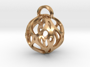 View of spherical games - part four. Pendant in Polished Bronze