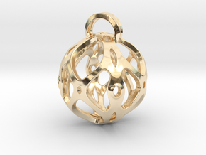 View of spherical games - part four. Pendant in 14k Gold Plated Brass