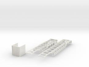 000615 30 m wood logger in White Natural Versatile Plastic: 1:87 - HO