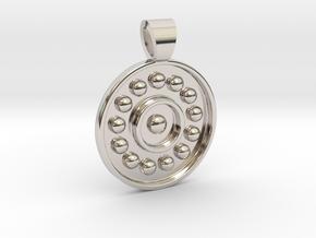 Antique solar system [pendant] in Rhodium Plated Brass