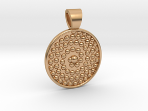 Life spiral [pendant] in Polished Bronze