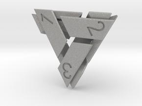 D4 Abstergo Dice in Aluminum