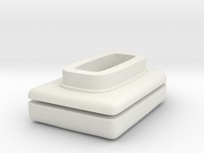 1/25 Roof Top AC Unit in White Natural Versatile Plastic