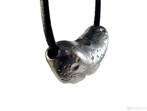 Eros asteroid pendant in Natural Silver
