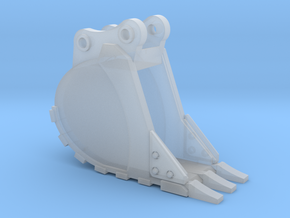 """1:50 18"""" PC138 Trench Bucket in Smooth Fine Detail Plastic"""