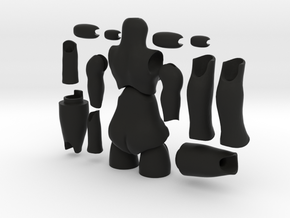 'Storybook' BJD body FEMALE (without hands and fee in Black Natural Versatile Plastic
