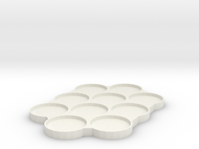 skeletonized 32mm Movement Tray in White Natural Versatile Plastic