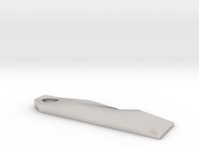 Fractal Keychain Prybar in Platinum