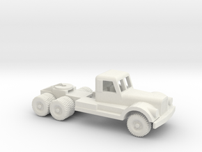 1/100 Scale Diamond T Tractor in White Natural Versatile Plastic