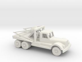 1/100 Scale Diamond T Wrecker in White Natural Versatile Plastic