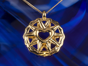 Love Star Love and Light Jewelry in 14k Gold Plated Brass
