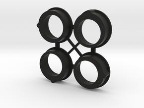 Gizmo Diff Eccentrics - High Position in Black Natural Versatile Plastic